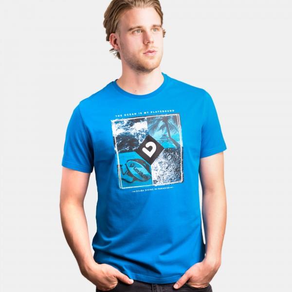 Paradise T-Shirt Men Mykonos blue