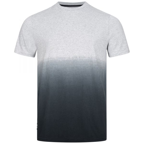 Men's T-shirt with gradient from grey to black