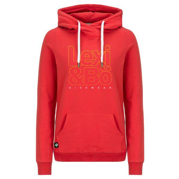 Lexi&Bö Divewear Hoodie für Damen in rot - Vorderansicht